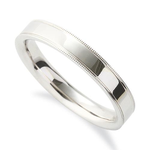 指輪 PT900 プラチナ シンプルで上品なミル打ちリング 幅3.5mm|900pt 貴金属 ジュエリー レディース メンズ