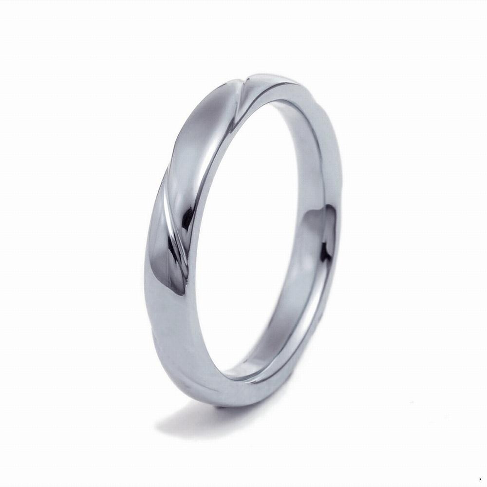 高級感が漂うプラチナ900の指輪 指輪 PT900 プラチナ 斜めの彫り込みデザインリング 幅2.6mm|900pt 貴金属 ジュエリー レディース メンズ