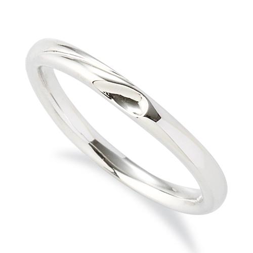 指輪 PT900 プラチナ 窪みのあるV字リング 幅2.1mm|900pt 貴金属 ジュエリー レディース メンズ