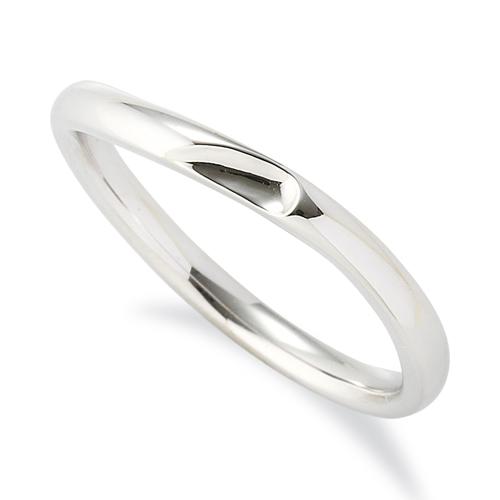 指輪 PT900 プラチナ 窪みのあるウェーブリング 幅2.4mm|900pt 貴金属 ジュエリー レディース メンズ