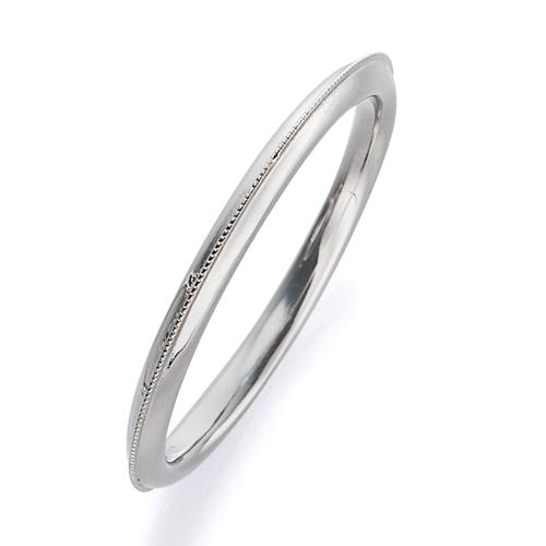 指輪 PT900 プラチナ 上品なミル打ちラインリング 幅1.7mm|900pt 貴金属 ジュエリー レディース メンズ