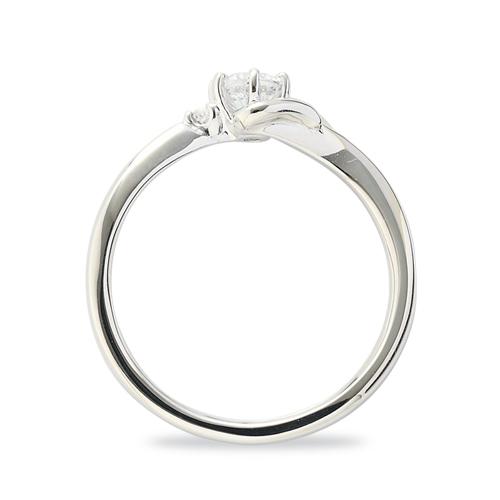 指輪 PT900 プラチナ 天然石 F イニシャルモチーフのサイドストーンリング 主石の直径約3 8mm ウェーブ 六本爪留め|900pt 貴金属 ジュエリー レディース メンズqUzMVSpG
