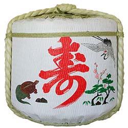 飾り樽[寿・鶴・亀]1斗樽(ディスプレイ樽)Japanese Decorative barrel
