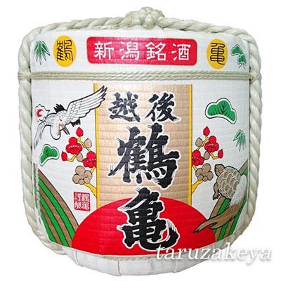 飾り樽[越後鶴亀]4斗樽72L(ディスプレイ樽)Japanese Decorative barrel