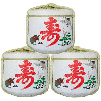 飾り樽二段重ね【鶴亀寿】(4斗樽)Japanese Decorative barrel