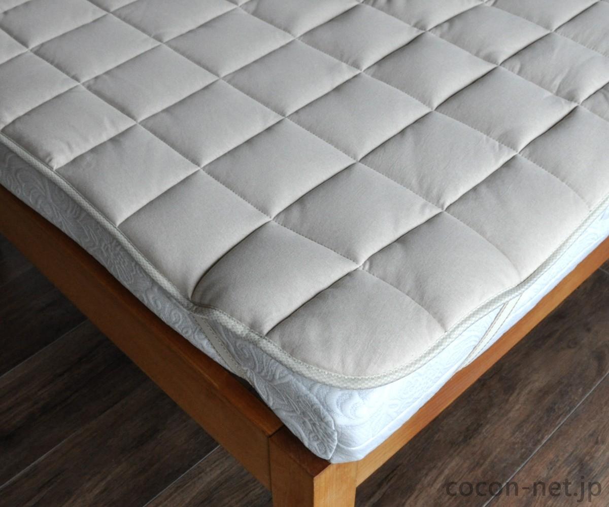 キャメル 敷きパッド/ベッドパッド クイーン 日本製
