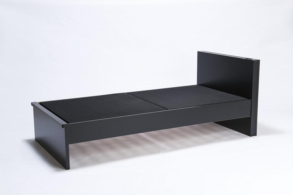 東京西川 ベッドフレーム スペイサー シングル ブラック/ダークブラウン AIRマットレス/ベッドマットレス対応 日本製