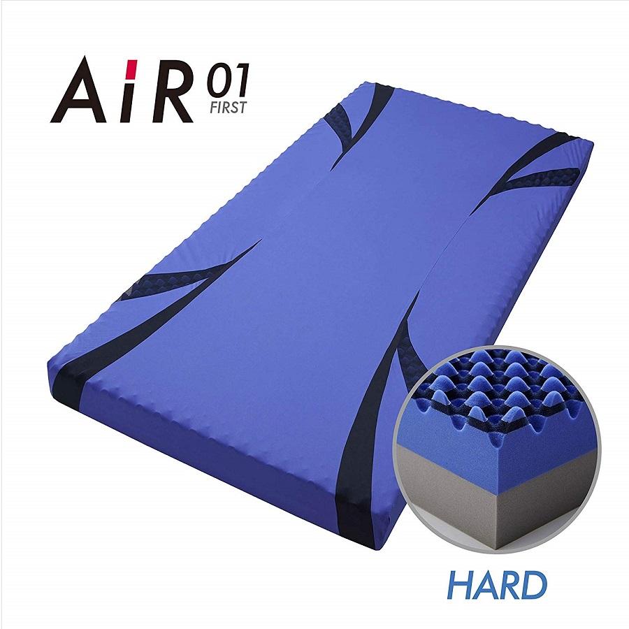 西川 AIR 01 エアー ベッドマットレス セミダブル ハード ブルー 日本製 圧縮梱包 HC19801637B
