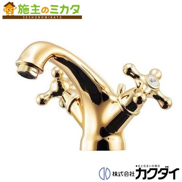 カクダイ 【150-453-G】 KAKUDAI 2ハンドル混合栓(ゴールド) 混合水栓 蛇口 ★
