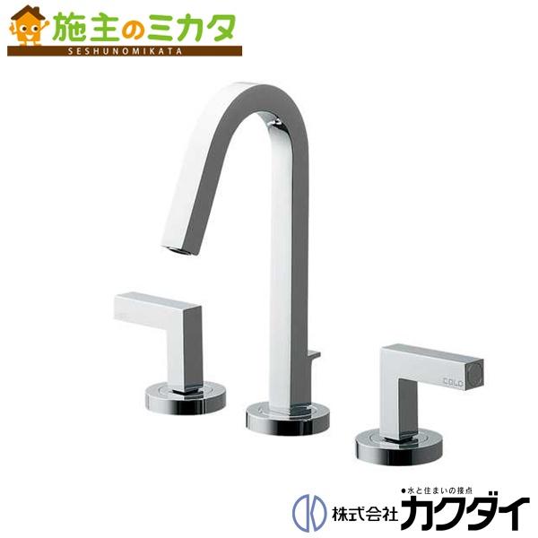 カクダイ 【153-018】 KAKUDAI 台付2ハンドル混合栓★
