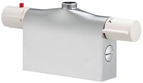 カクダイ 【175-400K】 KAKUDAI サーモスタットシャワー混合栓本体(デッキタイプ) 混合水栓 ★