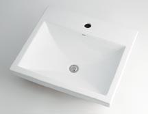 カクダイ 【493-003】 KAKUDAI 角型洗面器//1ホール ★