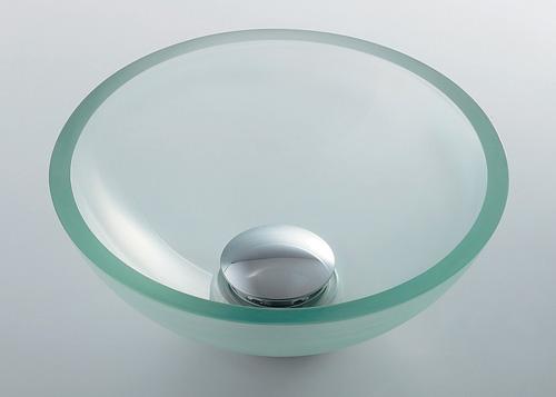 カクダイ 【493-028-C】 KAKUDAI ガラス丸型手洗器 ★