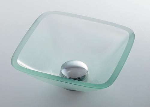 カクダイ 【493-029-C】 KAKUDAI ガラス角型手洗器 ★