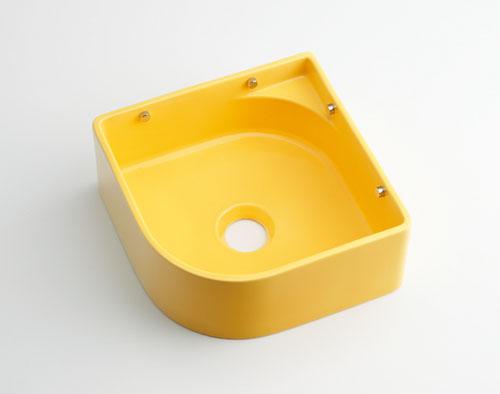 カクダイ 【493-048-Y】 KAKUDAI 壁掛手洗器//イエロー ★