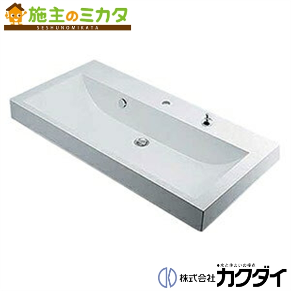 カクダイ 【493-070-1000】※ KAKUDAI 角型洗面器//1ホール ★