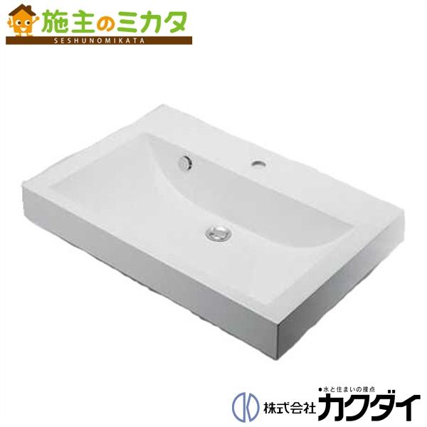 カクダイ 【493-070-750】※ KAKUDAI 角型洗面器//1ホール ★