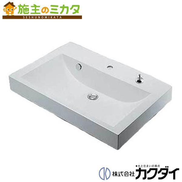 カクダイ 【493-070-750H】※ KAKUDAI 角型洗面器//1ホール・ポップアップ独立つまみタイプ ★