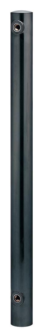 カクダイ 【624-042】※ KAKUDAI ステンレス水栓柱(丸型・黒ニッケルメッキ)