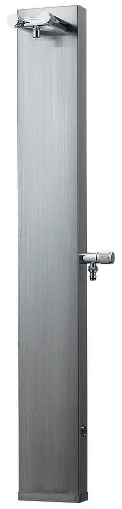 カクダイ 【624-104】※ KAKUDAI ステンレスシャワー混合栓柱//ヘアライン仕上げ 混合水栓