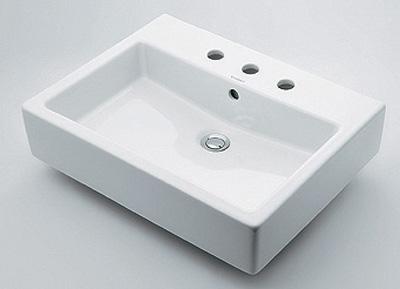 カクダイ 【#DU-0452600030】 KAKUDAI 角型洗面器//3ホール ★