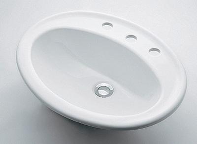 カクダイ 【#DU-0472560030】 KAKUDAI 丸型洗面器//3ホール ★
