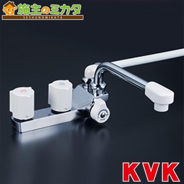 KVK 【KF13ZRGEC】 デッキ形2ハンドルシャワー 右側シャワー