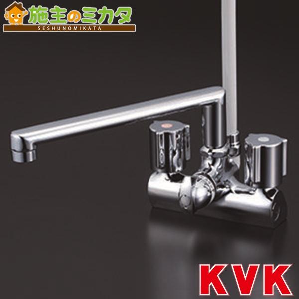 KVK 【KF206ZG】 デッキ形一時止水付2ハンドルシャワー 取付ピッチ120mm