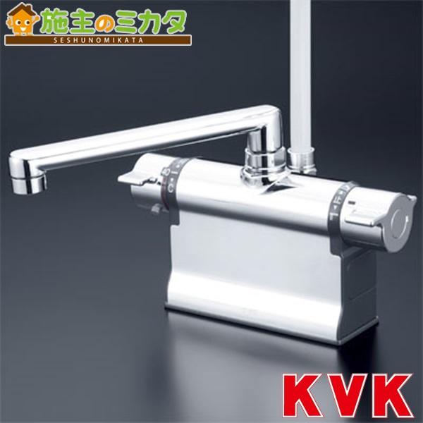 KVK 【KF3011TS2】 デッキ形サーモスタット式シャワー フルメッキワンストップシャワーヘッド付
