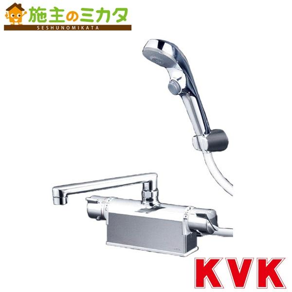 KVK 【KF771TS2】 デッキ形サーモスタット式シャワー フルメッキワンストップシャワーヘッド付