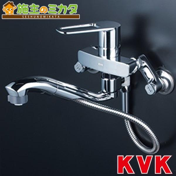 KVK 【KM5000ZTTP】 シングルレバー式シャワー付混合栓 混合水栓