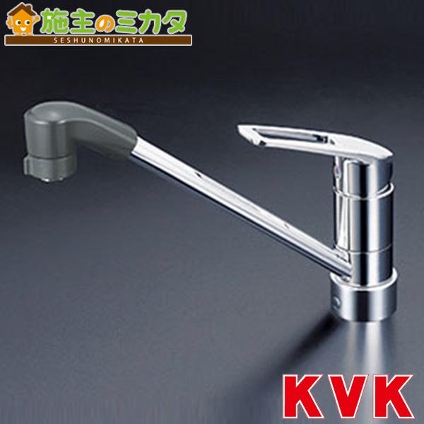 KVK 【KM5211JTF】 流し台用シングルレバー式シャワー付混合栓 上施工 混合水栓