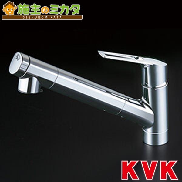 KVK 【KM6001ZEC】 浄水器内蔵シングルレバー式シャワー付混合栓 混合水栓