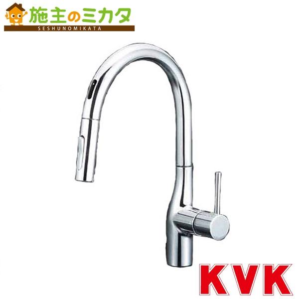 KVK 【KM6071EC】 流し台用シングルレバー式シャワー付混合栓 センサー付き eレバー 混合水栓