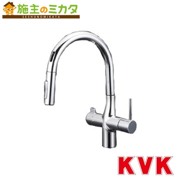 KVK 【KM6091SCEC】 浄水器付シングルレバー式シャワー センサー付 混合水栓 蛇口
