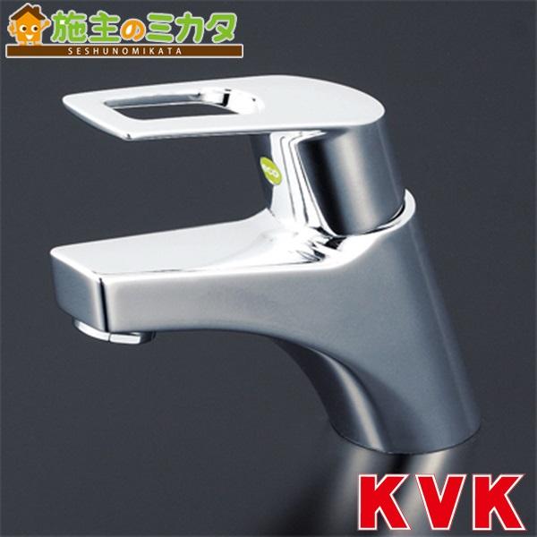 KVK 【KM7001TEC】 洗面用シングルレバー式混合栓 eレバー 混合水栓