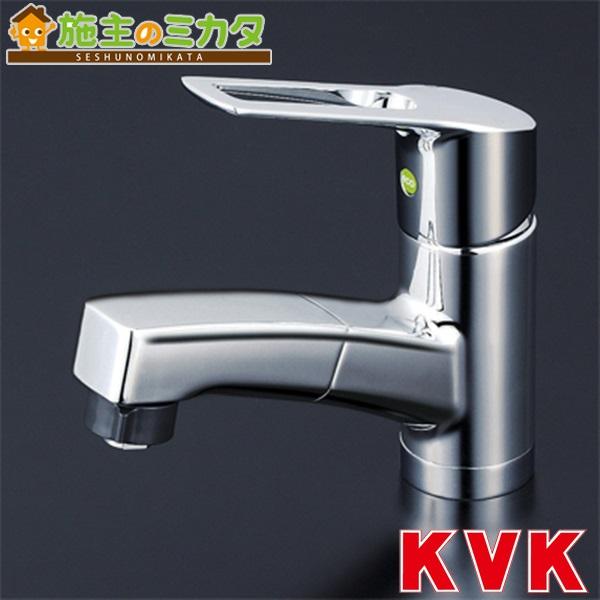 KVK 【KM8001TFEC】 洗面用シングルレバー式シャワー付混合栓 eレバー 混合水栓