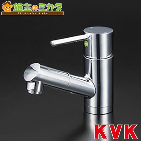 KVK 【KM8021TEC】 洗面用シングルレバー式混合栓 eレバー 混合水栓