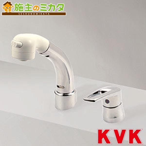 KVK 【KM8029ZT】 シングルレバー式洗髪シャワー 18度傾斜 メッキ 寒冷地仕様