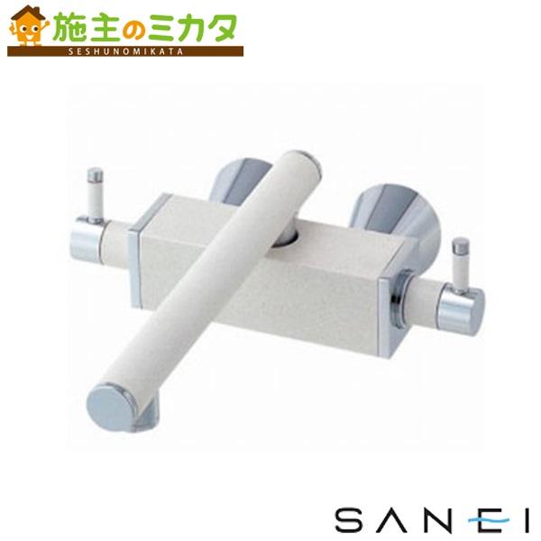 三栄水栓 【K2530K-JW-13】 ツーバルブ混合栓 色:白磁 寒冷地用 混合水栓 ★