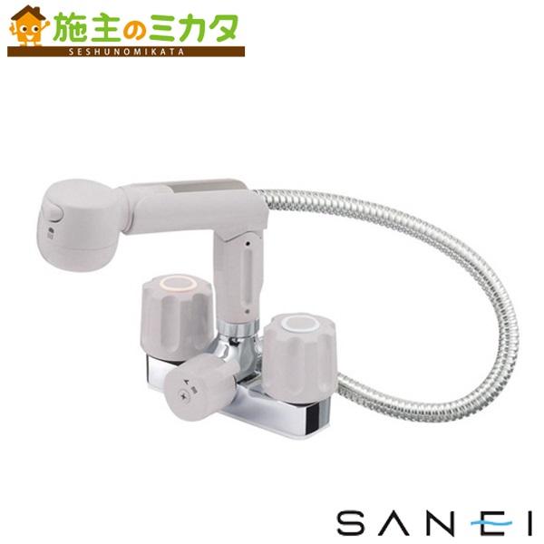 三栄水栓 【K3104V-LH-13】 ツーバルブスプレー混合栓 洗髪用 混合水栓 ★