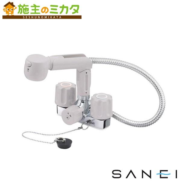 三栄水栓 【K3104VR-LH-13】 ツーバルブスプレー混合栓 混合水栓 ★