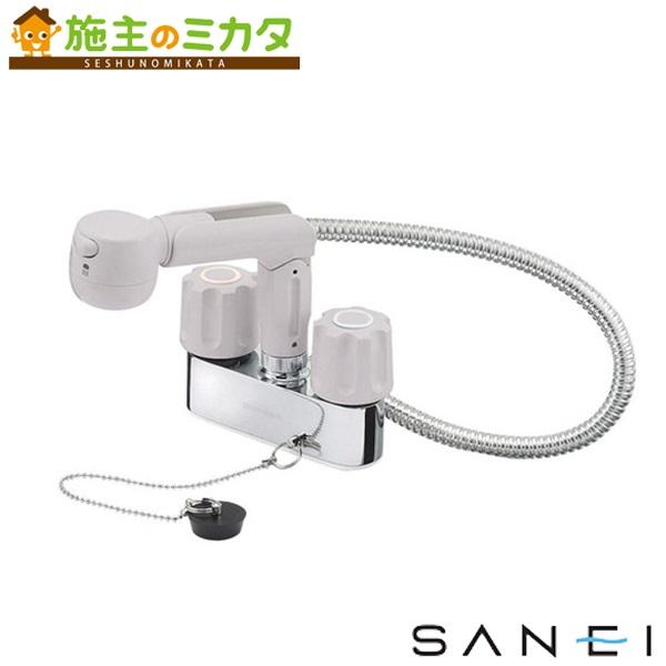 三栄水栓 【K31VR-LH-13】 ツーバルブスプレー混合栓 混合水栓 ★