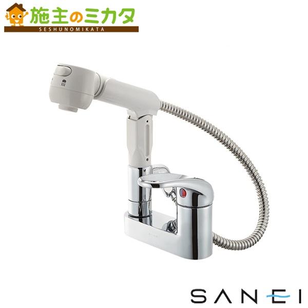 三栄水栓 【K37100V-13】 シングルスプレー混合栓 洗髪用 混合水栓 ★