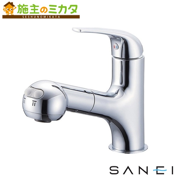 三栄水栓 【K3703JK-13】 シングルスプレー混合栓 寒冷地用 混合水栓 ★