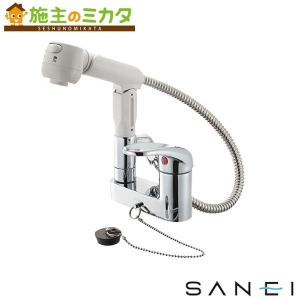 三栄水栓 【K37100VR-13】 シングルスプレー混合栓 混合水栓 ★