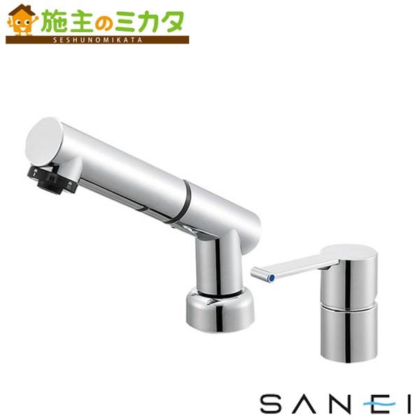三栄水栓 【K37510JKZ-13】 シングルスプレー混合栓 混合水栓 ★
