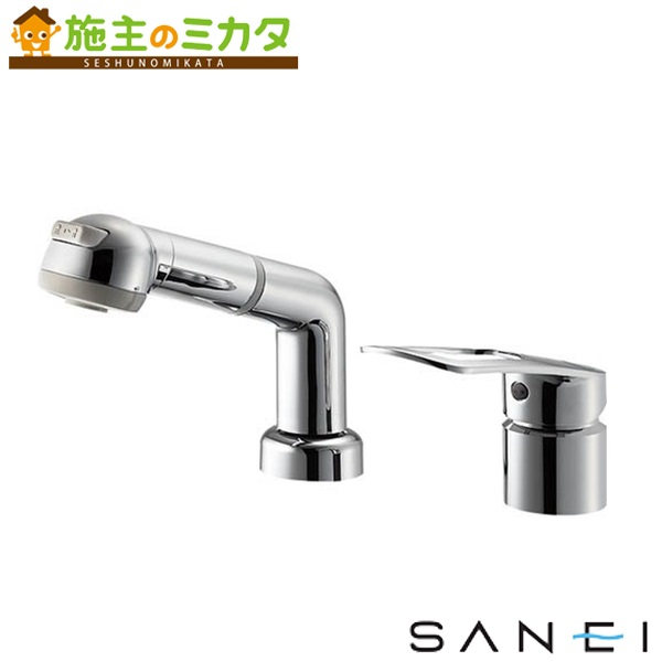 三栄水栓 【K3761EJK-C-13】 シングルスプレー混合栓 寒冷地用 混合水栓 ★