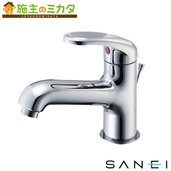 三栄水栓 【K4710PJK-13】 シングルワンホール洗面混合栓 寒冷地用 混合水栓 ★