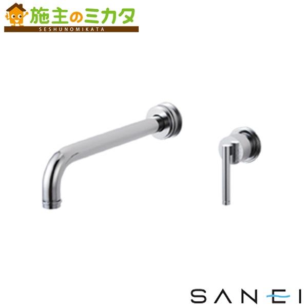 三栄水栓 【K4745V-13】 シングル洗面混合栓 壁出し 混合水栓 ★